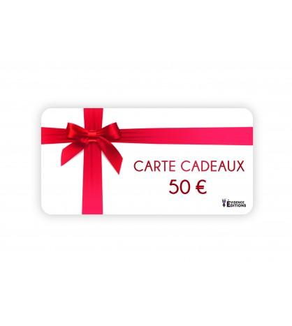 Carte cadeaux d'une valeur de 50 euros